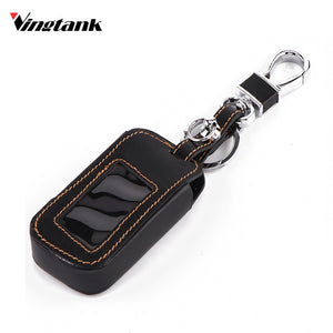 Genuine leather Car Remote Key Cover with Keychain hook Car Key Covers New Car Gadgets