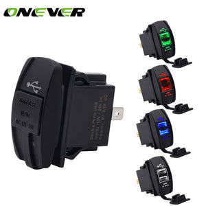 Car Dual USB Socket 3.1 A 5V Charger Car Phone Chargers New Car Gadgets