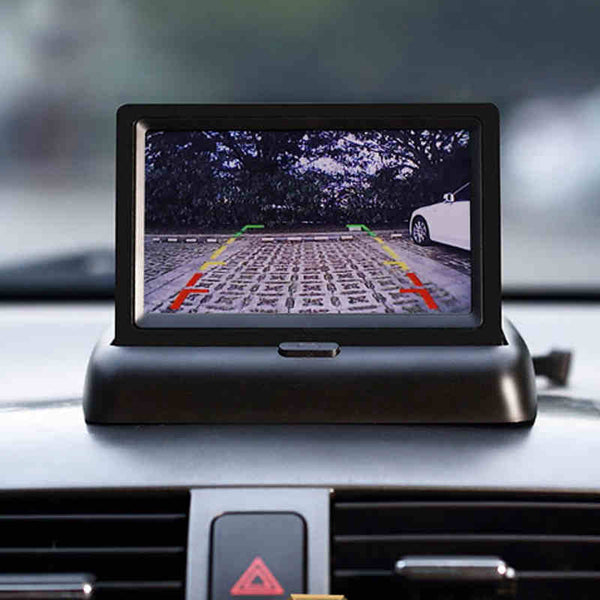 4.3 inch Night Vision Backup Camera with Foldable Display HD car dvr cameras dash cams New Car Gadgets