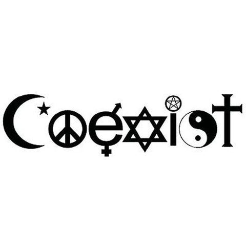 All Religions Coexist Car Sticker Car Decal Car Stickers Decals New Car Gadgets
