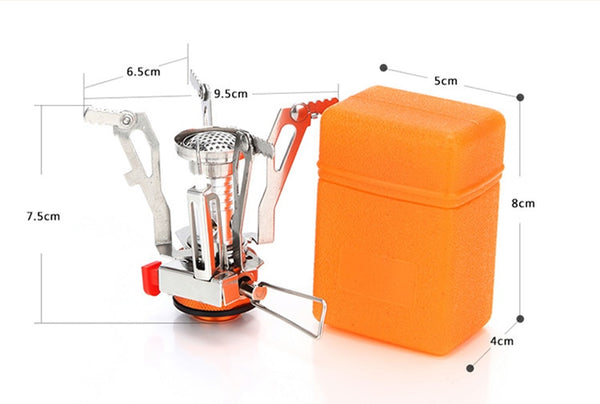 Mini Car Camping Stove Folding Outdoor Gas Stove Camping Car Gadgets Accessories New Car Gadgets