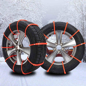 Winter Snow Chains For Your Tires ( 10 Pcs ) Car Safety Gadgets New Car Gadgets