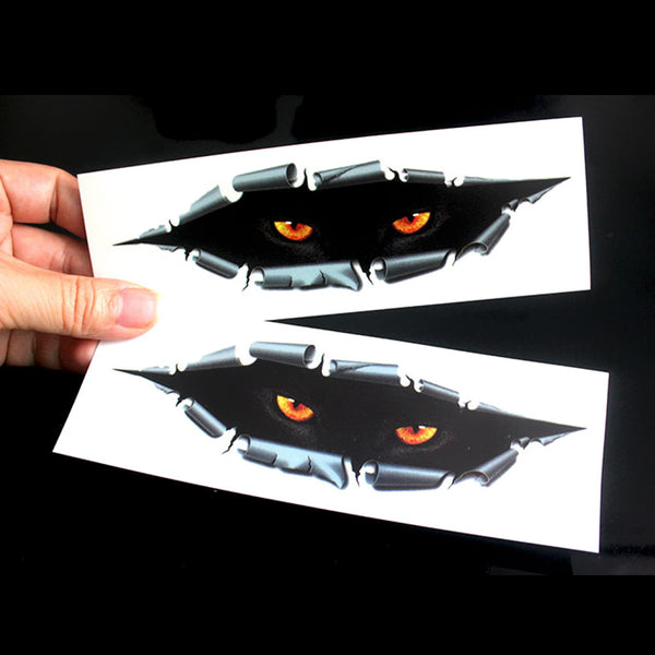 Waterproof 3D Car Stickers Eyes Peeking Car Decals Car Stickers Decals New Car Gadgets