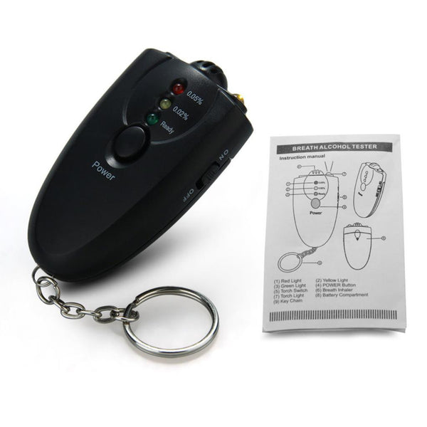 Alcohol Breathalyzer Tester Car Keychain Car Safety Gadgets New Car Gadgets