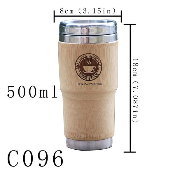Wooden Car Coffee Mug - Stainless Steel car coffee mugs New Car Gadgets