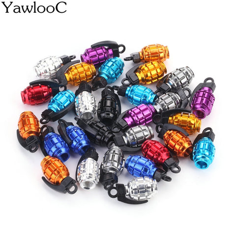 4Pcs Grenade Car Tire Air Valve Caps Covers Car Wheels Valve Covers New Car Gadgets