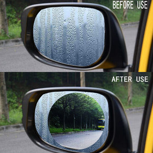 Nanotechnology Side Mirror Protective Film Anti Rain Anti Fog for Driving Safety (2 Pcs) Car Safety Gadgets New Car Gadgets