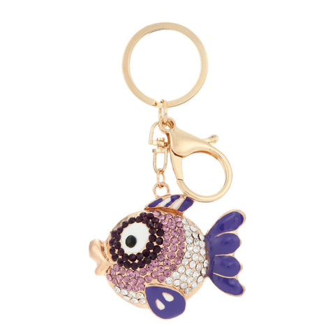 Unique Flying Fish Keychain Metal Shine Finish Car Keychains New Car Gadgets
