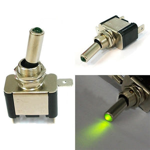 Green Light LED Lamp ON/OFF Switch  Car Switch Toggle Button Car Button Switches New Car Gadgets
