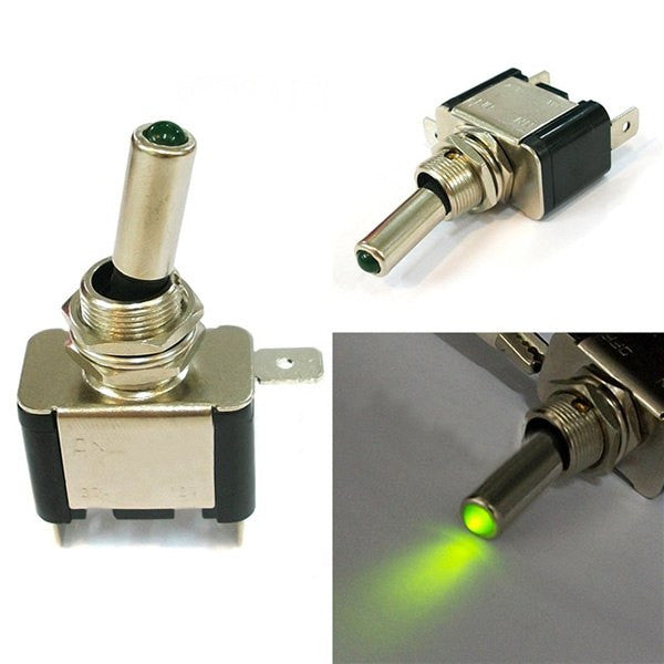 Green Light Led Lamp On Off Switch Car Switch Toggle Button
