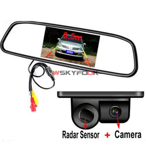 Car Rear View Mirror with Camera Backup Sensor Car Artificial Intelligence New Car Gadgets