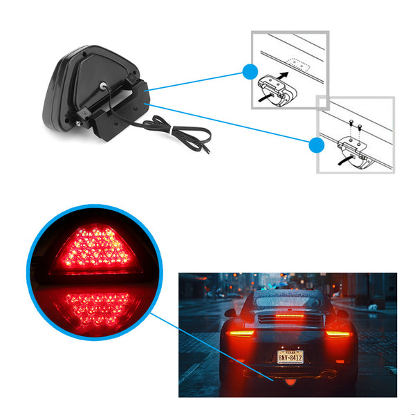 Car Strobe Reverse Lights Red Triangle Car Exterior Lighting New Car Gadgets