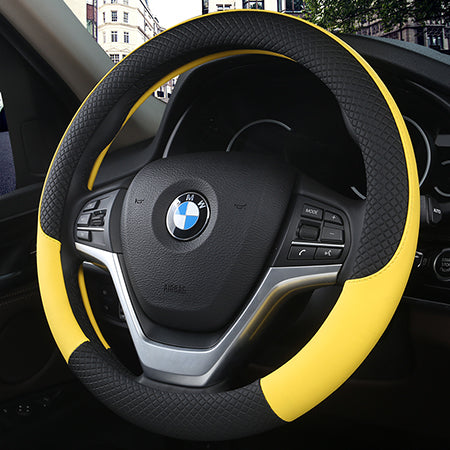 Leather Car Steering wheel Cover Car Steering Wheel Covers New Car Gadgets