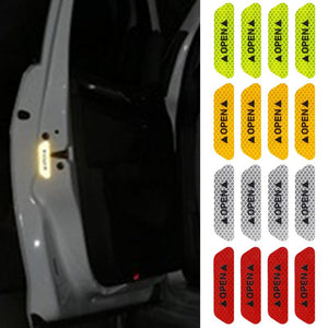 4 Pcs Car Safety Door Reflection Warning Signs ( Different Colors ) Car Safety Gadgets New Car Gadgets