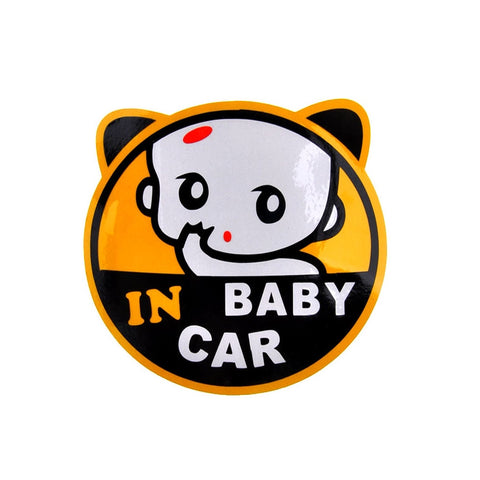 Cute Face Baby in Car Sticker Car Decal Car Stickers Decals New Car Gadgets