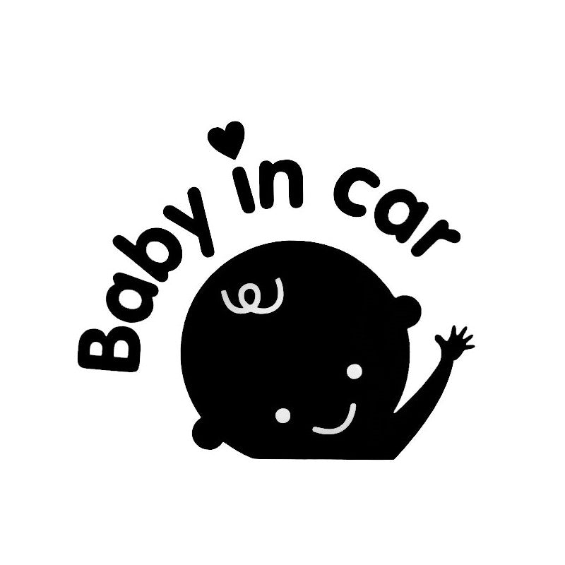 Waving Hand Baby in Car Sticker Car Decal Car Stickers Decals New Car Gadgets