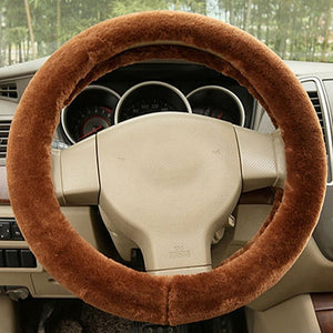 Warm Soft Plush Car Steering Wheel Covers Car Steering Wheel Covers New Car Gadgets