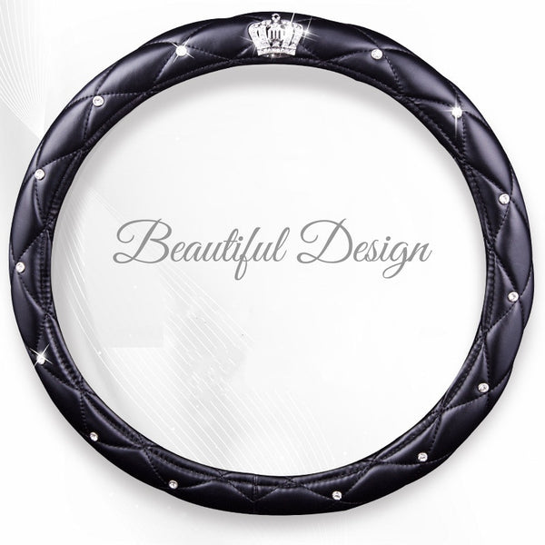Diamond Crown Steering Wheel Covers Luxury Style Car Steering Wheel Covers New Car Gadgets