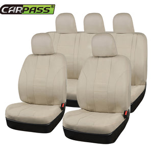 New Beige Car Seat Covers - Universal Car Seat Cover Full Set 11 Pcs Car Seat Covers New Car Gadgets
