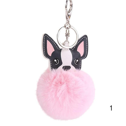 Fluffy Dog Keychain Warm Fur Keychain Car Keychains New Car Gadgets