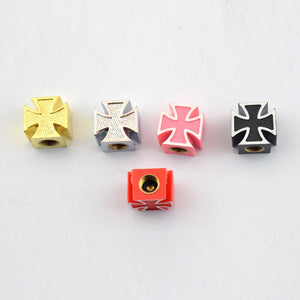 Car 4 Pcs Cross Tire Valve Caps Car Wheels Valve Covers New Car Gadgets