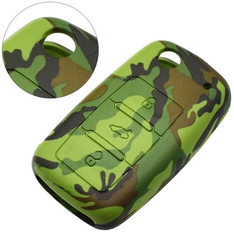 Camouflage Silicone Car Key Cover Military Key Cover Car Key Covers New Car Gadgets