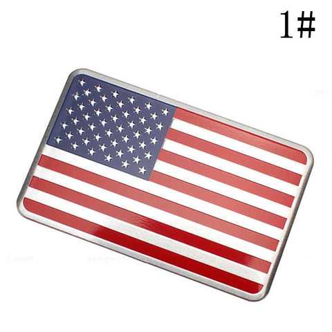 US American Flag  Car Sticker Decal Emblem (High Quality) Car Stickers Decals New Car Gadgets