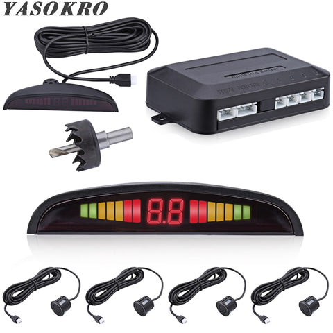 Car Backup Sensors Kit with LED Distance Estimator Car Smart Gadgets New Car Gadgets