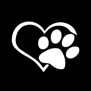 Dog Paws Heart Car Sticker Decal Car Stickers Decals New Car Gadgets