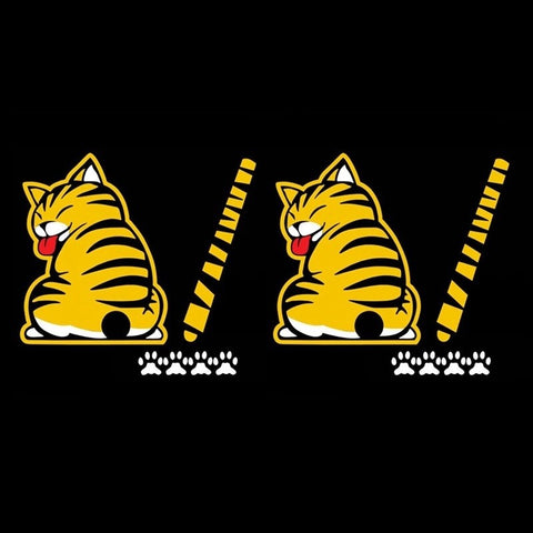 Funny Cat Car Sticker Decal for Rear Wiper ( wiggle tail ) Car Stickers Decals New Car Gadgets