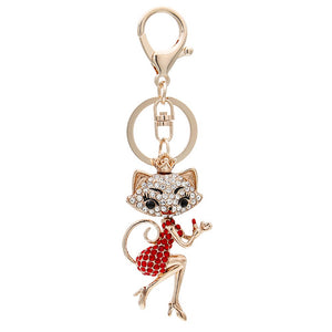 Cartoon Cat Keychain Car Keychains New Car Gadgets