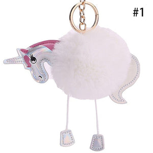 Pony Keychain Fur Keychain Fluffy Warm Car Keychains New Car Gadgets