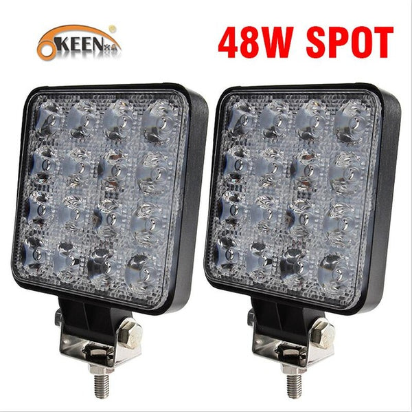 Different Wattage LED Car Spot Lights Fog Lights Car Exterior Lighting New Car Gadgets