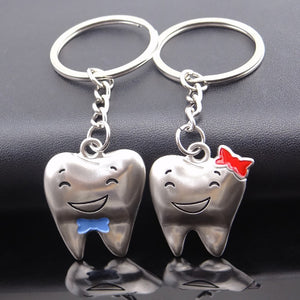 Metal Teeth Keychain Dentist Love Keychains Car Keychains New Car Gadgets