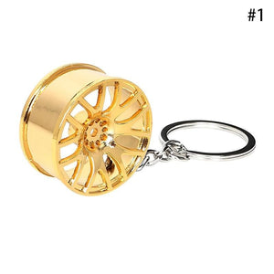 Wheel Hub Rim Car Keychain (High Quality Unique) Car Keychains New Car Gadgets