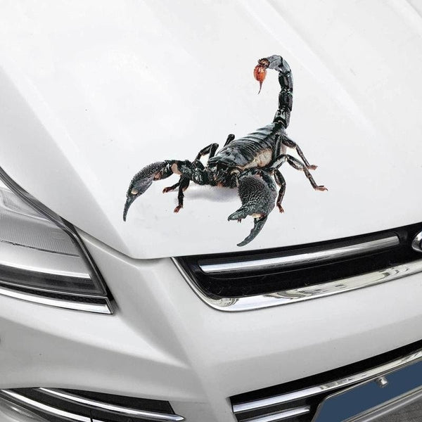 Car Sticker Waterproof 3D Scorpion Car Sticker Decal Car Stickers Decals New Car Gadgets