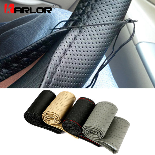 Artificial Leather Steering Wheel Cover Car Steering Wheel Covers New Car Gadgets