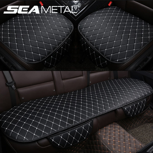 Durable Leather Car Seat Covers with Storage Pockets Car Seat Covers New Car Gadgets