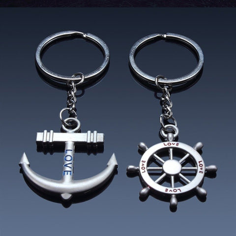 Sailor Keychain for Sailor Lovers Navy Keychains ( 2 Pcs ) Car Keychains New Car Gadgets