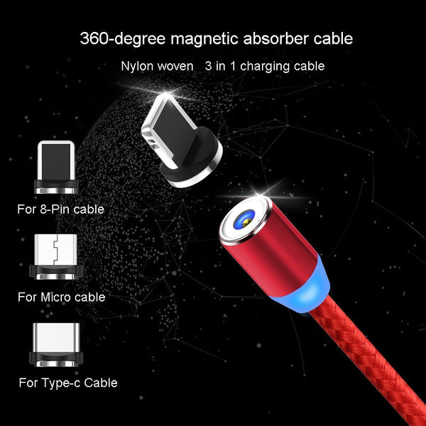New Magnetic Phone Charging Cable Connector (Apple or Android) Car Phone Chargers New Car Gadgets