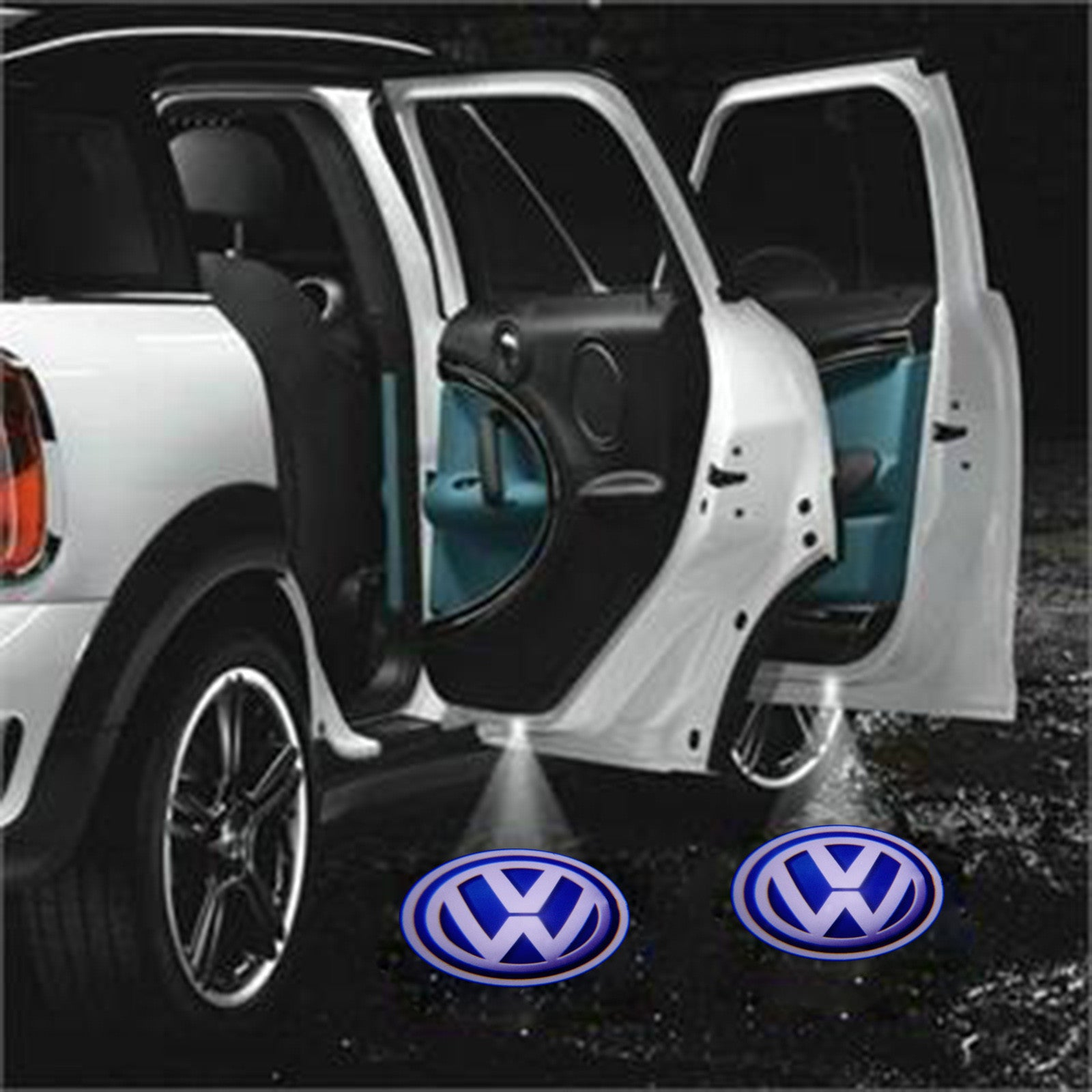 VW 3D Shadow Car Door Welcome LED Car Laser Projector Lights Car Interior Lighting New Car Gadgets