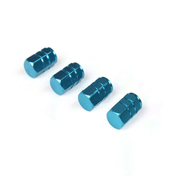 Aluminum Car Tire Valve Stems Covers Caps ( 4 Pcs ) Car Wheels Valve Covers New Car Gadgets