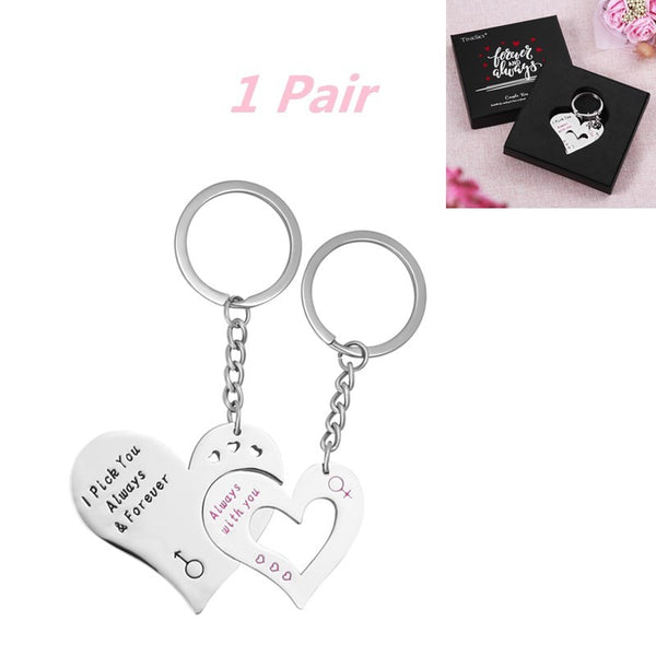 Love Heart Key Chain Couples Pendants Gift Idea Car Keychains New Car Gadgets