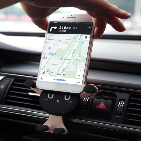 New Vehicle Air Vent Mount Car Phone Holder with Gravity Automatic Locking Car Phone Holders New Car Gadgets