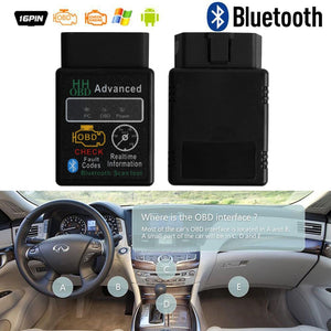 OBD2 Bluetooth Adapter Car Diagnostic Tool (Latest Version 2.1) Car Bluetooth Gadgets New Car Gadgets