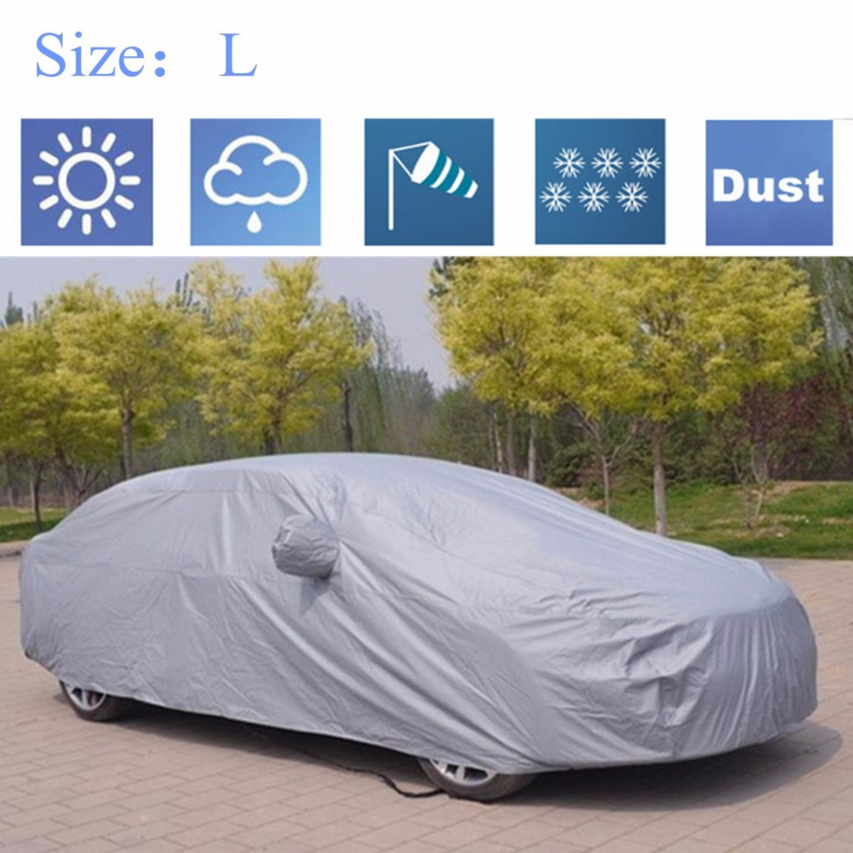 Full Car Cover Anti Rain Snow Ice Waterproof Dustproof UV Outdoor Car Covers Outdoor New Car Gadgets