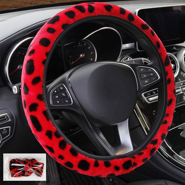 Leopard Car Steering Wheel Cover Car Steering Wheel Covers New Car Gadgets