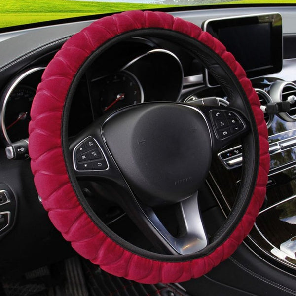 Grey Car Steering Wheel Cover Car Steering Wheel Covers New Car Gadgets