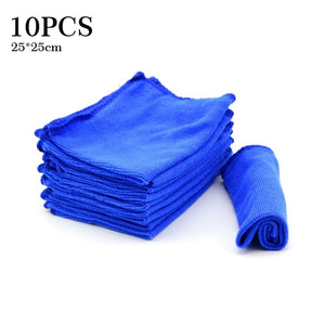 Enhanced Microfiber Washcloth Set - Car Cleaning Cloths (10 Pcs) Car Cleaning Gadgets New Car Gadgets