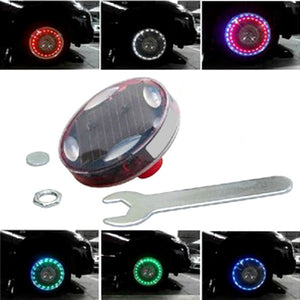 Multi Color Tire Valve Cap Flash LED Lights ( Solar Energy ) 15 Modes Car Wheels Valve Covers New Car Gadgets